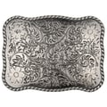 BT Rectangle Metal Flower Buckle
