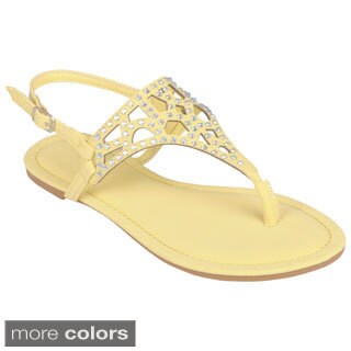 Journee Collection Women's 'Cope-09' Bejeweled Slingback Sandal