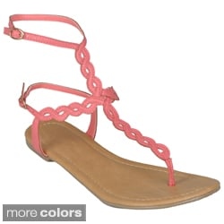Journee Collection Women's 'Subrina-32' Twisted Ankle Strap Sandals