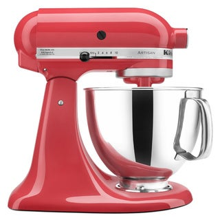KitchenAid KSM150PSWM Watermelon 5-quart Artisan Tilt-Head Stand Mixer