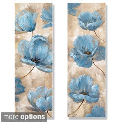 Nan 'A Summer Wind I and II' 2-piece Canvas Art Set