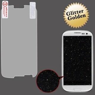 BasAcc Golden Glitter Screen Protector for Samsung Galaxy S III/ S3