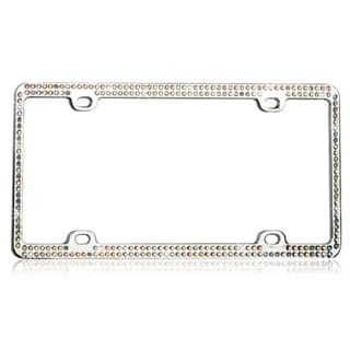 BasAcc Multicolor Crystals Metal License Plate Frame