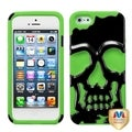BasAcc Black/ Electric Green Skullcap Hybrid Case for Apple iPhone 5