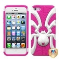 BasAcc White/ Hot Pink Spiderbite Hybrid Case for Apple iPhone 5