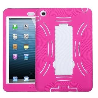 BasAcc White/ Hot Pink Symbiosis Stand Case for Apple iPad Mini