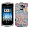 BasAcc Zebra Diamante Case for LG VS700/ VM701/ LS700 Optimus Slider