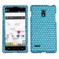 BasAcc Blue/ White Dots Diamante Case for LG P769 Optimus L9