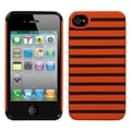 BasAcc Carrot Orange/ Black Railing Fusion Case for Apple iPhone 4/ 4S