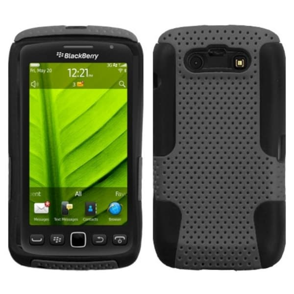 INSTEN Grey/ Black Phone Case Cover for RIM Blackberry 9850 Torch/ 9860 Torch