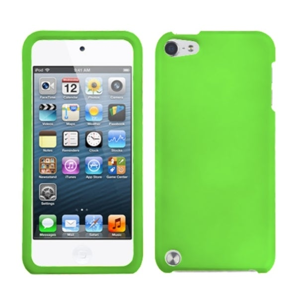 INSTEN Dark Green iPod Case Cover Rubberized for Apple iPod Touch 5th Generation