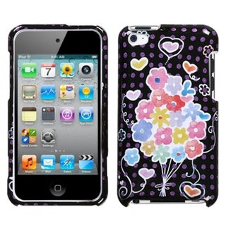 INSTEN Flower Balloon Sparkle iPod Case Cover for Apple iPod Touch 4th Generation