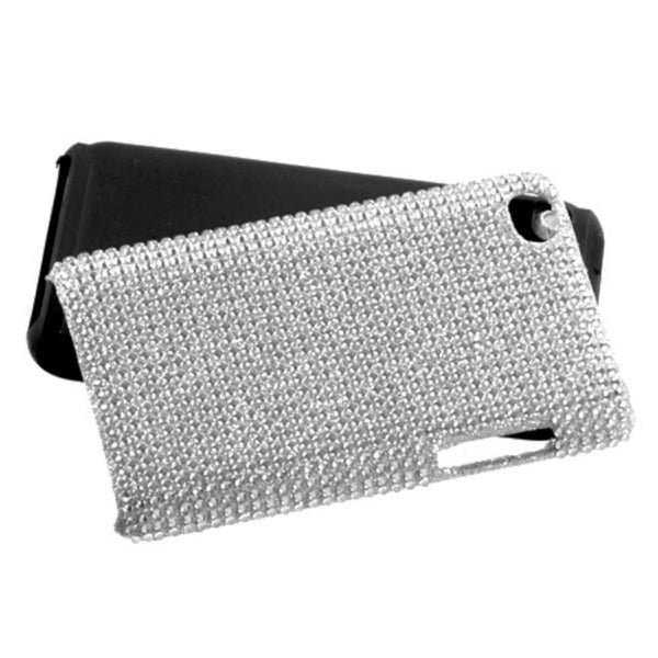 INSTEN Silver Diamante Fusion iPod Case Cover for Apple iPod Touch 4th Generation