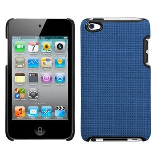 INSTEN Blue Canvas Executive iPod Case Cover for Apple iPod Touch 4th Generation