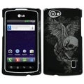 BasAcc Skull Wing Case for LG MS695 Optimus M+