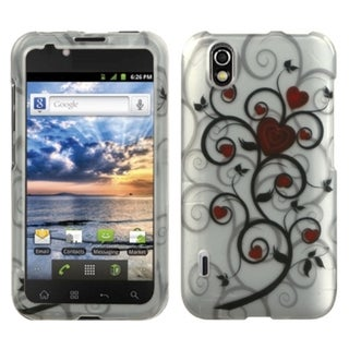 BasAcc Lizzo Heart Tree 2D Silver Case for LG LS855 Marquee
