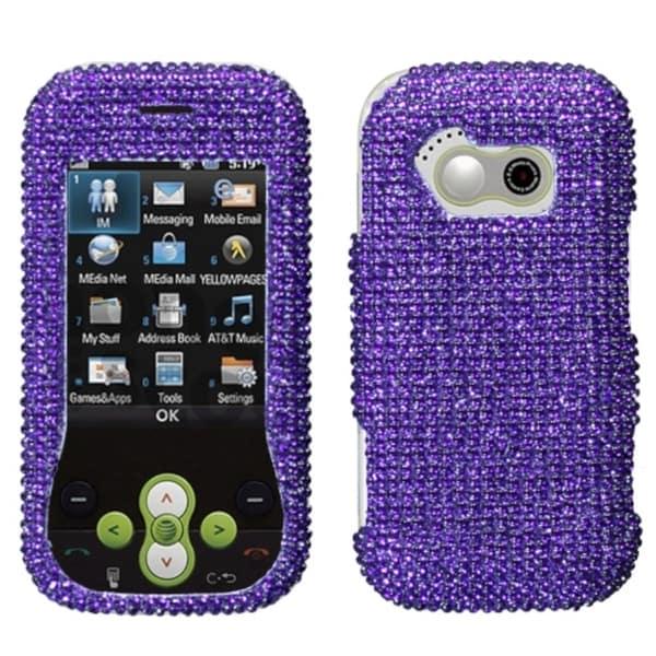 INSTEN Purple Diamante Phone Case Cover for LG GT365 Neon