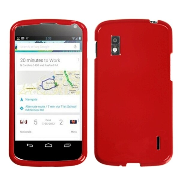 BasAcc Solid Flaming Red Case for LG E960 Nexus 4