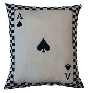 Ace of Spades Parchment 17-inch Throw Pillows (Set of 2)