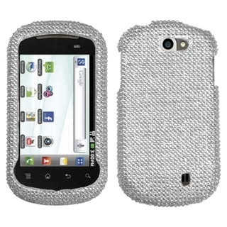 BasAcc Silver Diamante Case for LG C729 Doubleplay