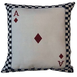 Ace of Diamonds Parchment 17-inch Throw Pillows (Set of 2)