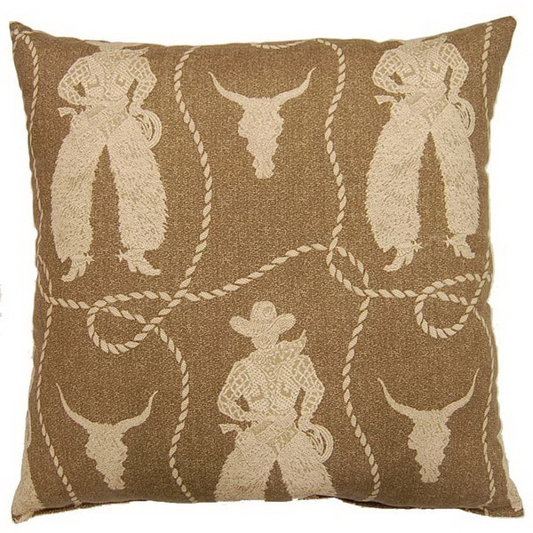 Buckaroo Rawhide 26-inch Floor Pillow