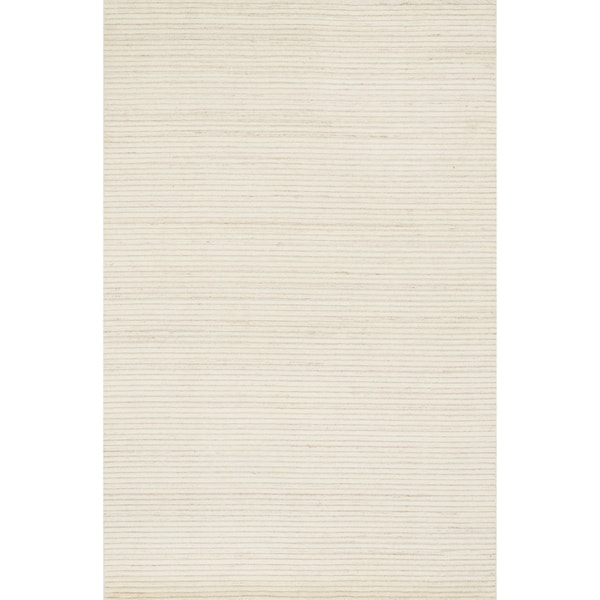 Hand-knotted Franklin Ivory Wool Rug (3'6 x 5'6)