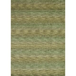 Hand-loomed Aria Herbal Garden Wool Rug (3'6 x 5'6)