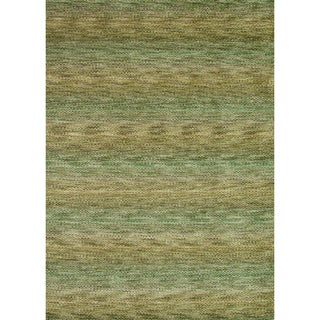 Hand-loomed Aria Herbal Garden Wool Rug (5'0 x 7'6)