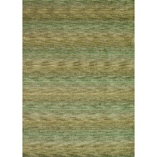 Hand-loomed Aria Herbal Garden Wool Rug (7'6 x 9'6)