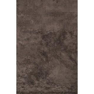 Hand-tufted Ellis Chocolate Shag Rug (2'3 x 3'9)