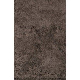 Hand-tufted Ellis Chocolate Shag Rug (7'9 x 9'9)