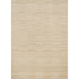 Hand-knotted Franklin Natural Wool Rug (3'6 x 5'6)