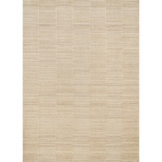 Hand-knotted Franklin Natural Wool Rug (5'0 x 7'6)