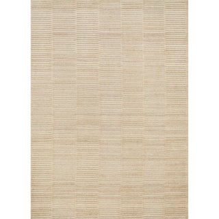 Hand-knotted Franklin Natural Wool Rug (7'6 x 9'6)
