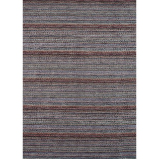 Hand-loomed Aria Elderberry Wool Rug (5'0 x 7'6)