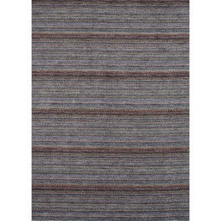 Hand-loomed Aria Elderberry Wool Rug (7'6 x 9'6)