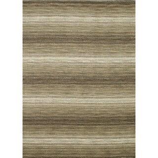Hand-loomed Aria Twill Wool Rug (5'0 x 7'6)