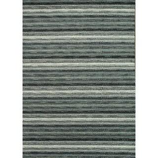 Hand-loomed Aria Graphite Wool Rug (5'0 x 7'6)