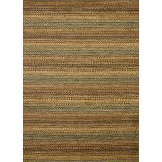 Hand-loomed Aria Desert Wool Rug (7'6 x 9'6)