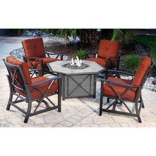 Harmon Outdoor Spring Rocker Chairs (Set of 4)