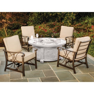 Upton Home Morton Outdoor Spring Rocker Chairs (Set of 4)