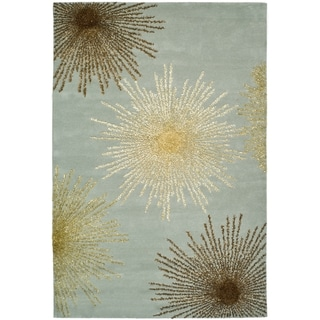 Safavieh Handmade Soho Burst Light Blue Wool Rug (11' x 15')