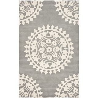 Safavieh Handmade Soho Light Grey/ Ivory Wool Rug (11' x 15')