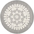 Safavieh Handmade Soho Light Grey/ Ivory Wool Rug (4' Round)