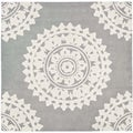 Safavieh Handmade Soho Light Grey/ Ivory Wool Rug (10' Square)