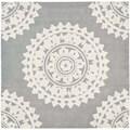 Safavieh Handmade Soho Light Grey/ Ivory Wool Rug (4' Square)