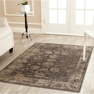 Safavieh Vintage Soft Anthracite Viscose Rug (6'7 x 9'2)