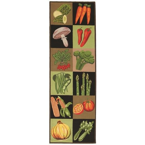 Safavieh Hand-hooked Vintage Poster Multi-colored Wool Rug (2'6 x 10')
