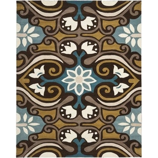 "Safavieh Handmade Wyndham Blue/Brown Wool Rug (8'9"" x 12')"